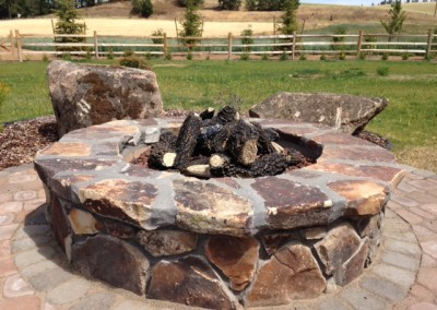 Fire pit job for Environment West Landscape